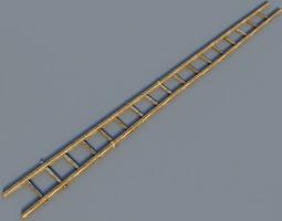 wooden ladder 3d
