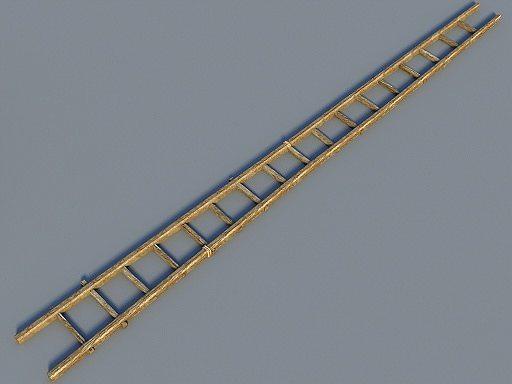 wooden ladder 3d model obj fbx lwo lw lws dae mtl u3d 1