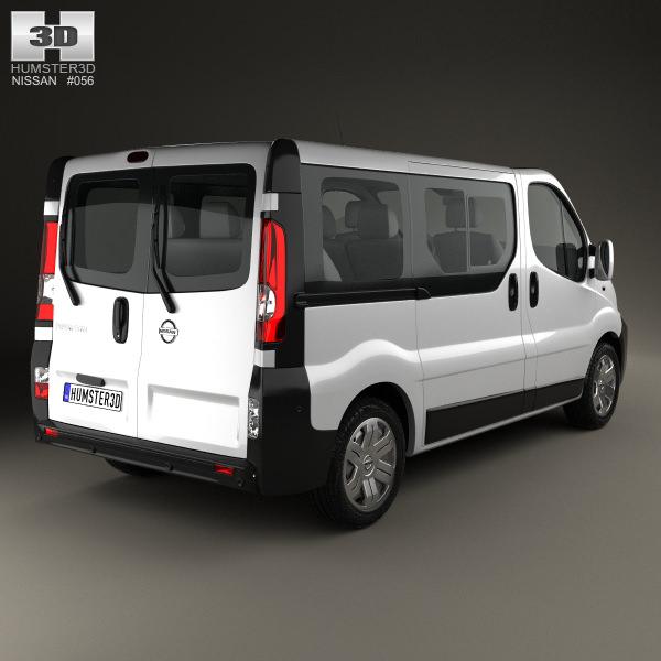 Nissan Primastar Passenger Van 2002 3d Model Max Obj 3ds Fbx C4d Lwo Lw Lws 3