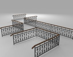 3D Fence with railings