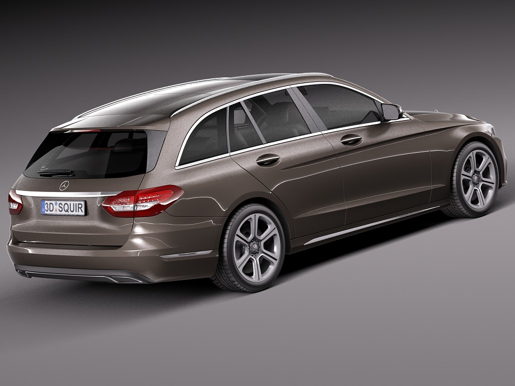 Mercedes benz c class w205 2015 estate 3d model max obj for Mercedes benz c class models