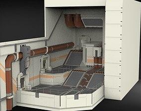 3D model sci-fi Architectural element 7