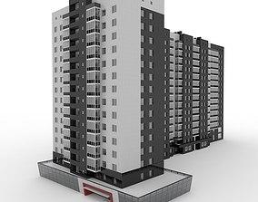 3D model Multistore Residential Apartment