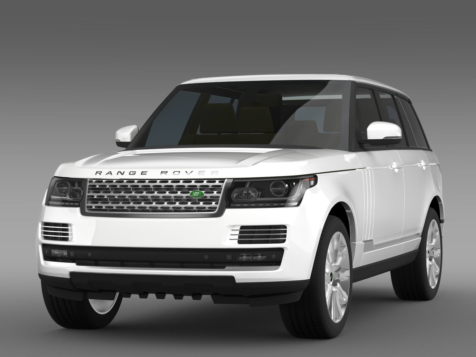 range rover supercharged l405 3d model max obj 3ds fbx c4d lwo lw lws. Black Bedroom Furniture Sets. Home Design Ideas