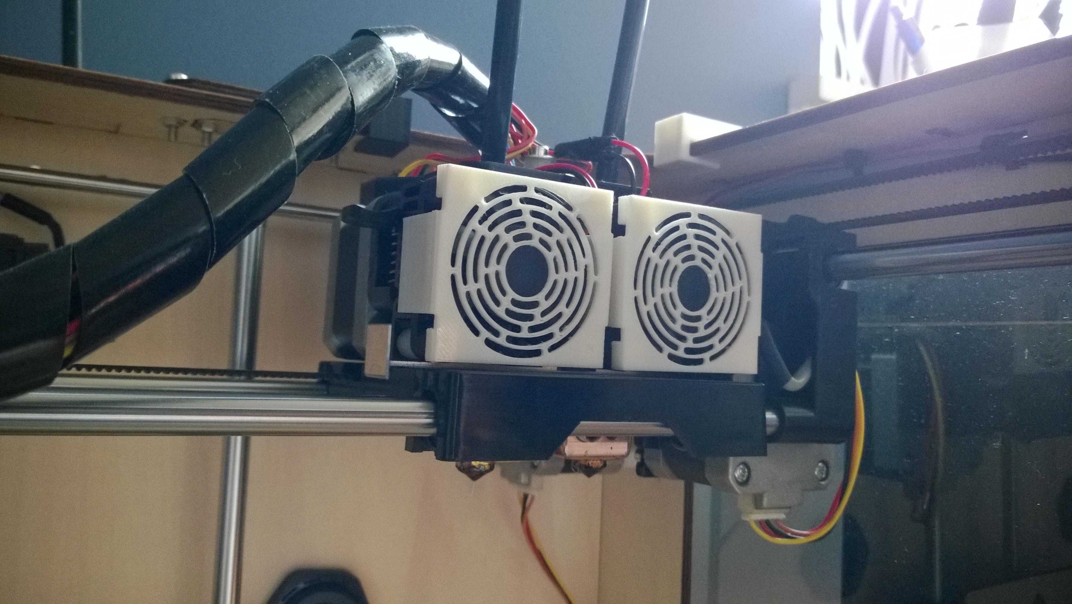 012a - Fan Shroud for FlashForge Creator Creator X 3D printer -