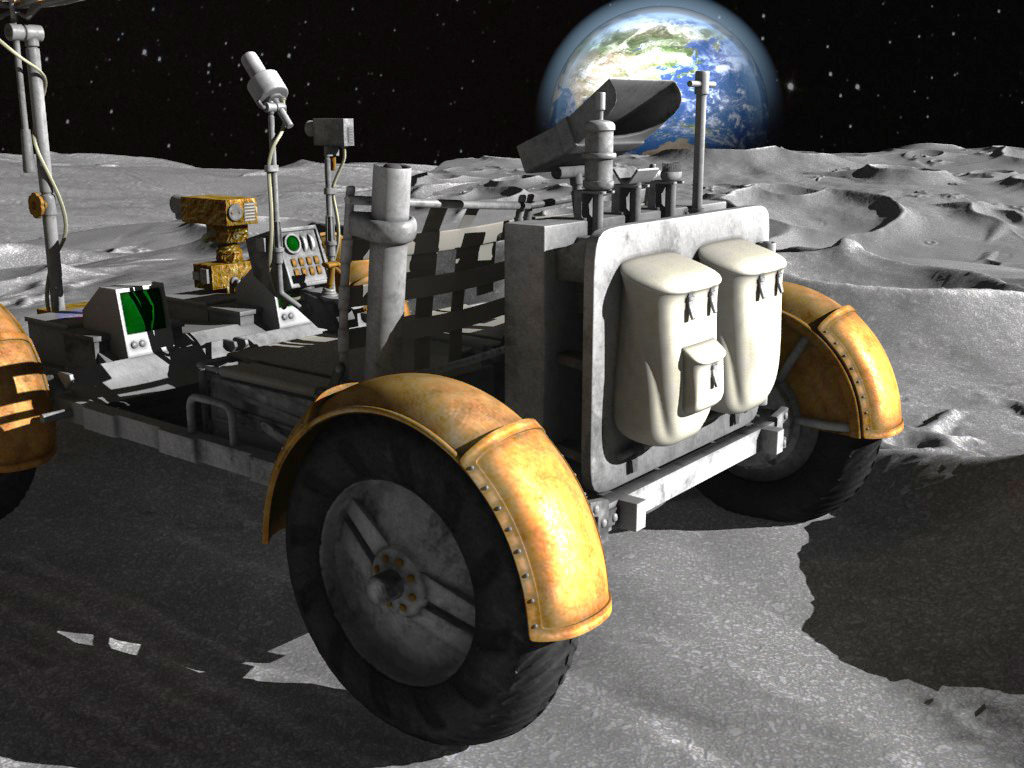 Apollo Lunar Rover Moon Car 3D Model MAX OBJ 3DS FBX C4D ...