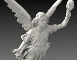 3D model Lucy A Christian Angel Statue
