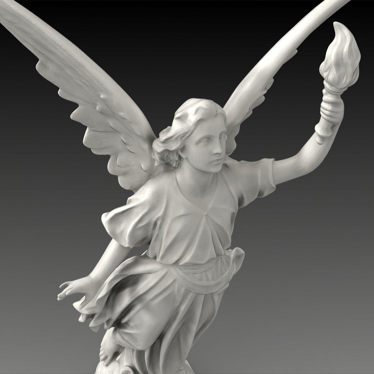 Lucy A Christian Angel Statue Free 3d Model Max Obj Fbx