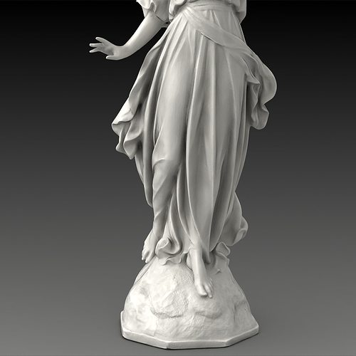 3D model Lucy A Christian Angel Statue   CGTrader
