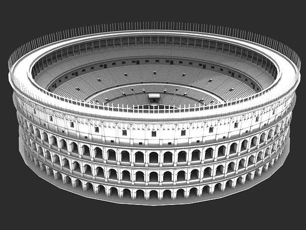 Roman Ancient Colosseum Reconstruction 3D Model 3D Model