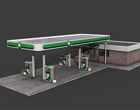 Gas Station game 3D asset realtime
