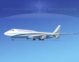 boeing 747-8i corporate 2 3d rigged