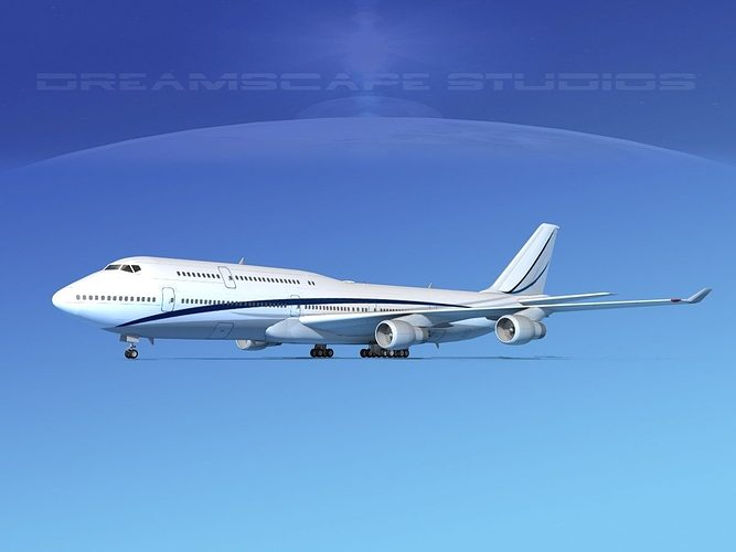 boeing 747-8i corporate 2 3d model max obj 3ds fbx lwo lw lws dxf 1