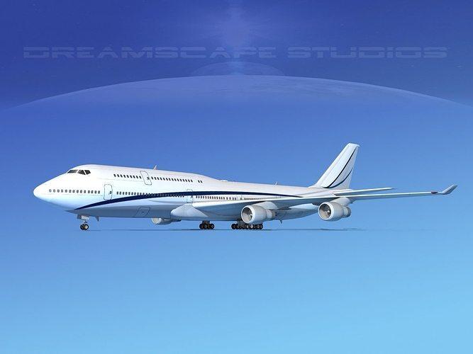 boeing 747-8i corporate 2 3d model max obj mtl 3ds fbx lwo lw lws dxf 1