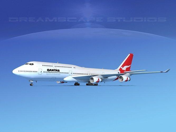 boeing 747-8i qantas 3d model max obj mtl 3ds lwo lw lws dxf stl 1