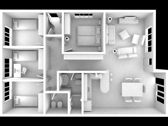 Interior House full modeled | CGTrader