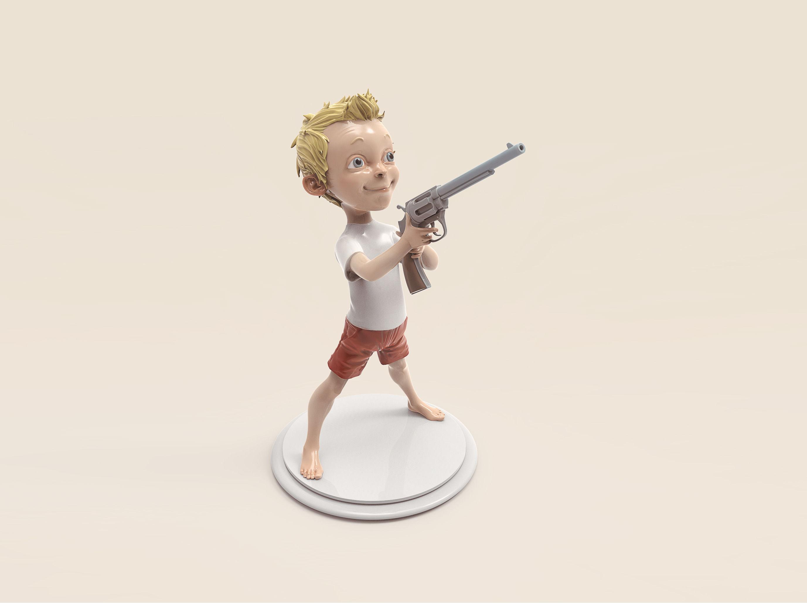 Boy with the gun