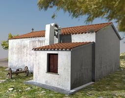 low-poly Country Church of Santa Reparata - Sardinia - 1