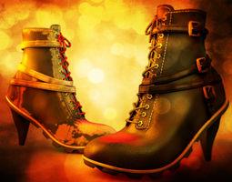 3D model High Heeled Urban Boots