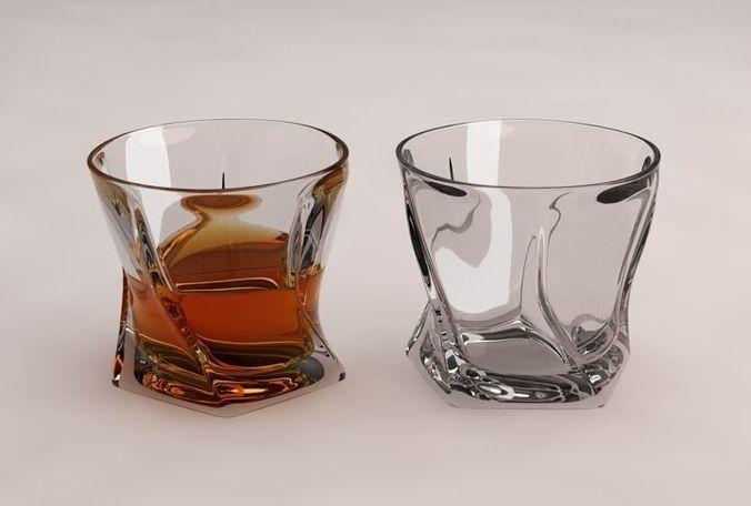 design-glass of whisky penta v2 3d model max obj mtl 3ds fbx 1