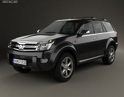 great wall hover haval h3 2010 3d