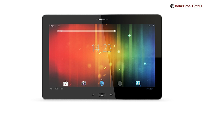 generic tablet 10 1 inch 3d model max obj mtl 3ds fbx c4d lwo lw lws 1