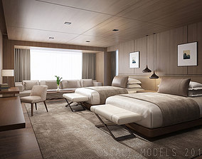 3D Hotel Guest Room 074