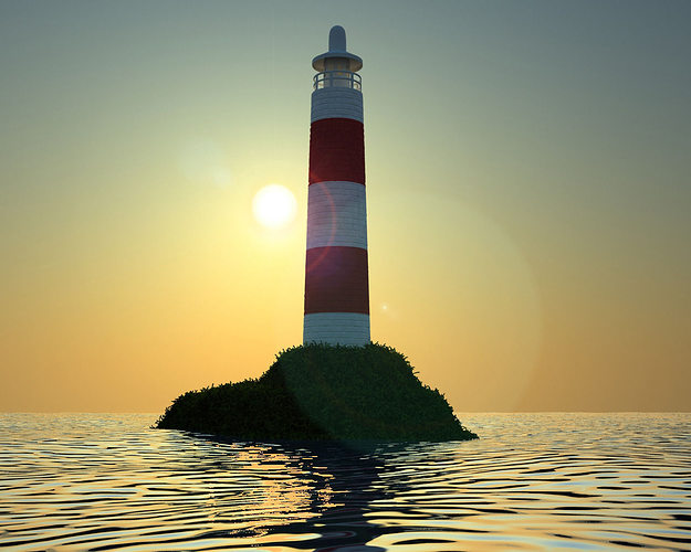 lighthouse 3d model max 1