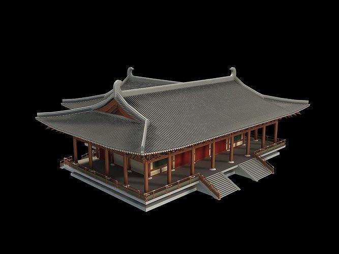 Oriental Asian Temple Collection 3d Model Max Obj Fbx Mtl Tga 25