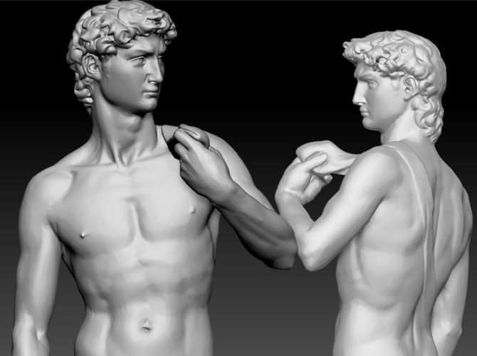 david by michelangelo classic statue 3d model obj mtl stl 1