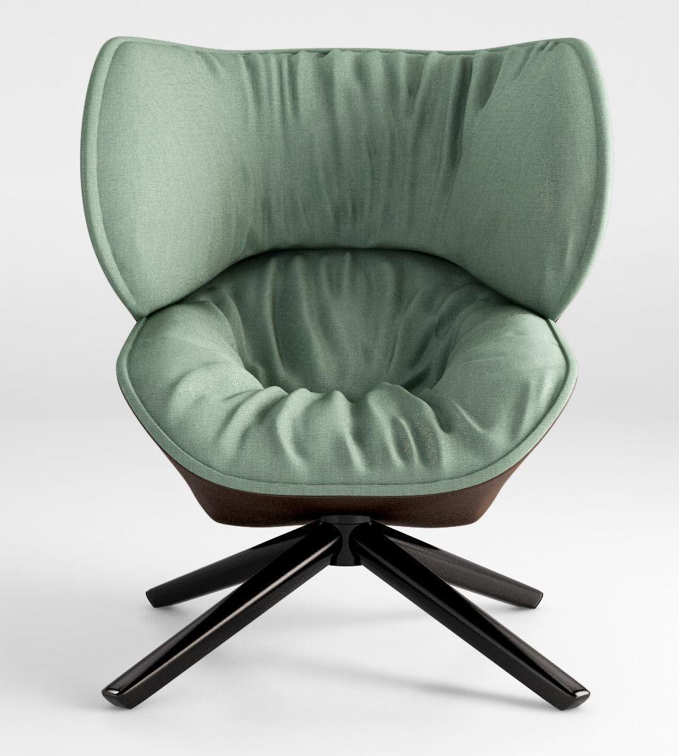 b b italia tabano armchair 3d model cgtrader