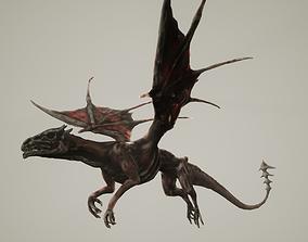 Undead Dragon 3D asset