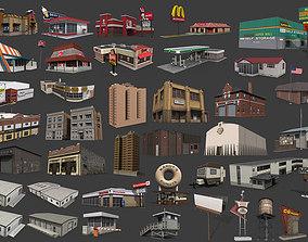 City Buildings Pack 3D asset realtime