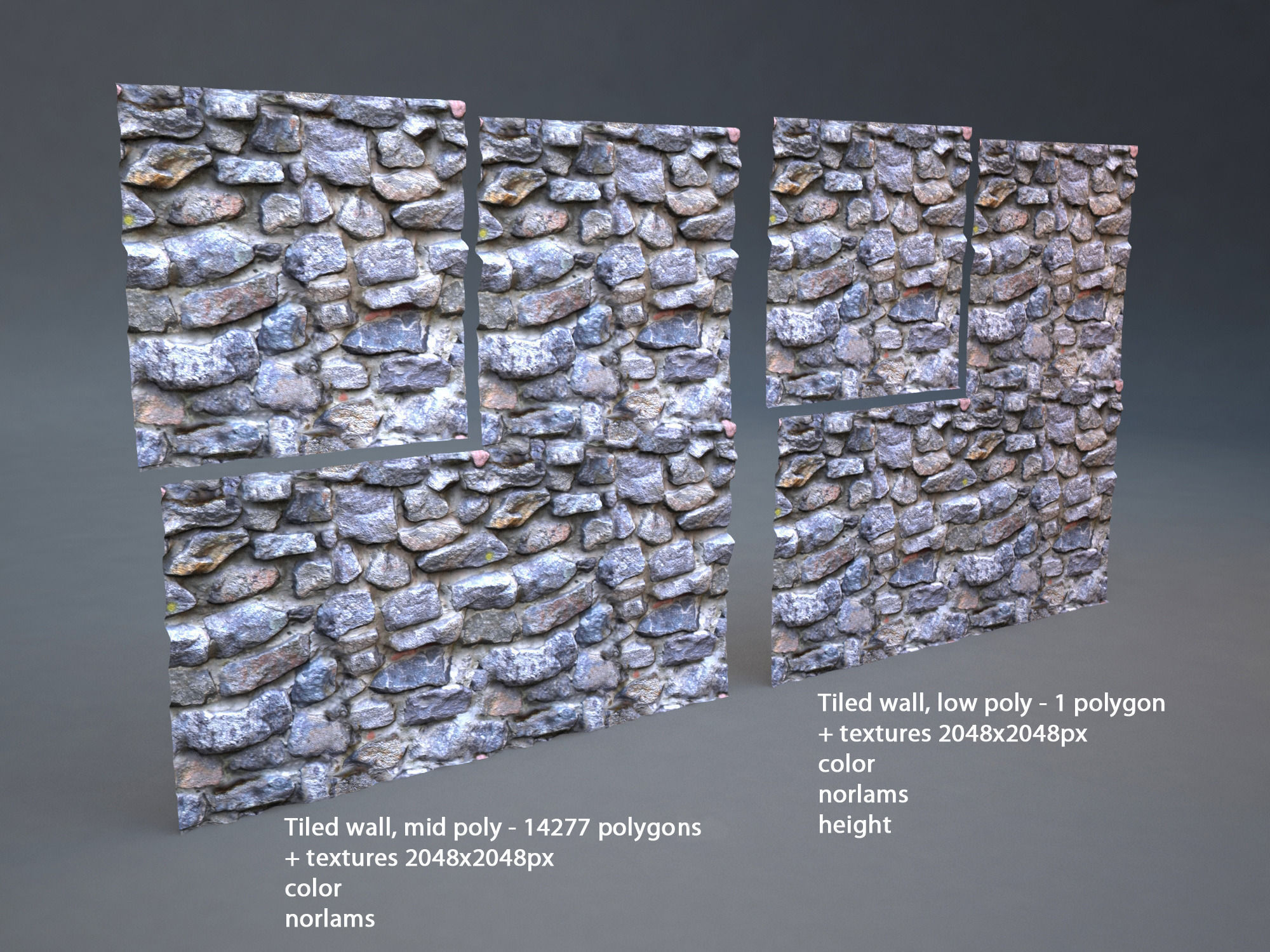Stone wall 001 tiled