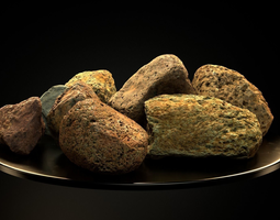 Cool Smooth Stone Pack vol01 3D model