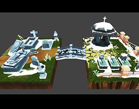 Cemetery Toon Kit 3D model