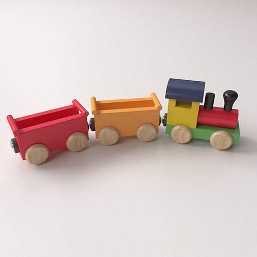 Wooden Toy Trains : Transportation wooden toy train d model cgtrader