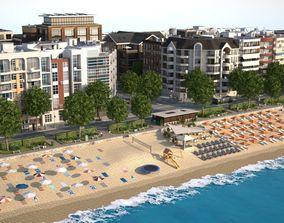 3D model Beach Town