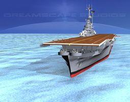 3d model ticonderoga class carrier cv-40 uss tarawa animated
