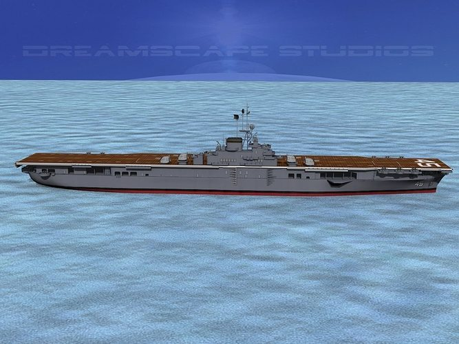 ticonderoga carrier cv-45 valley forge 3d model rigged animated max obj 3ds lwo lw lws dxf stl 1