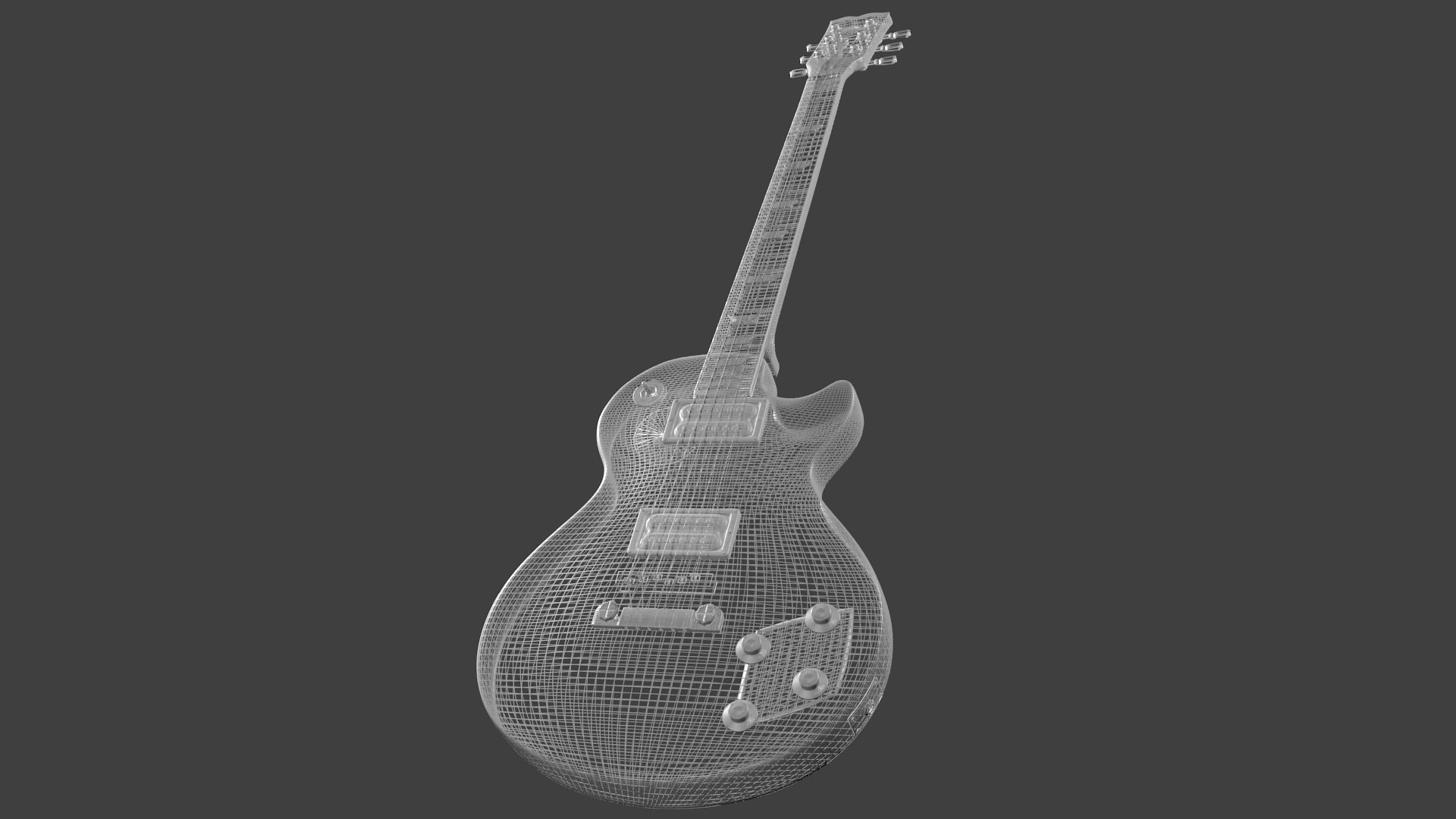 gibson les paul guitar 3d model obj cgtrader