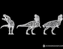 dinosaur - t-rex roar digital extinction - small 3d printable model