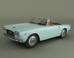 3D model Lancia Flaminia GT Convertible