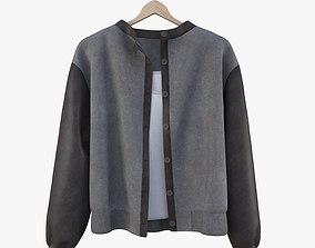 apparel 3D model Jacket and shirt