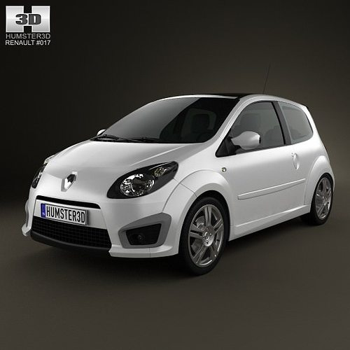 renault twingo rs 2008 3d model max obj 3ds fbx c4d lwo lw lws. Black Bedroom Furniture Sets. Home Design Ideas