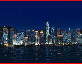 HongKong City Animated 001 3D model