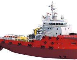 70 m AHTS Anchor Handling Tug Supply 3D Model