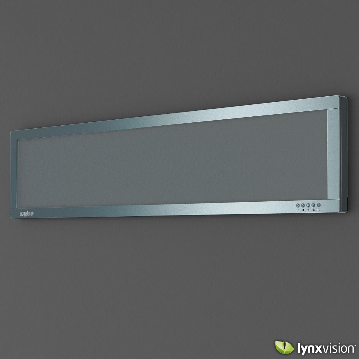 Sanyo Slim Air Conditioner 3d Cgtrader
