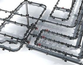 3D model Modular low poly piping set