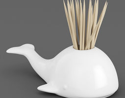 Whale Toothpick Holder 01 3D Model